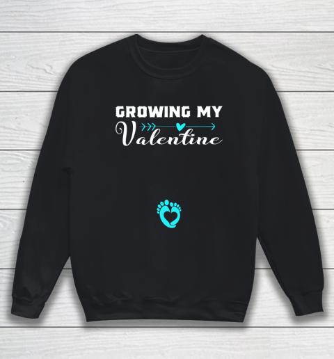 Cute Growing my Valentine Gift for Women pregnancy Sweatshirt