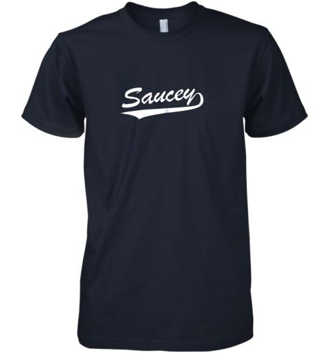 ui92 saucey swag baseball premium guys tee 5 front midnight navy