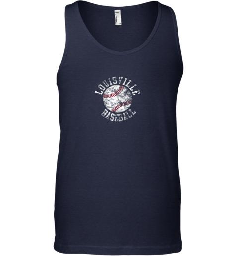 uojf vintage louisville baseball unisex tank 17 front navy