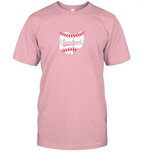 slr5 cleveland ohio 216 baseball jersey t shirt 60 front pink