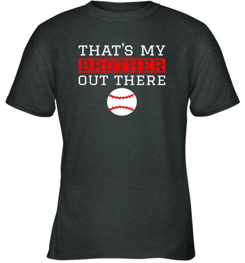 vmol sister baseball gift that39 s my brother baseball sister youth t shirt 26 front dark heather