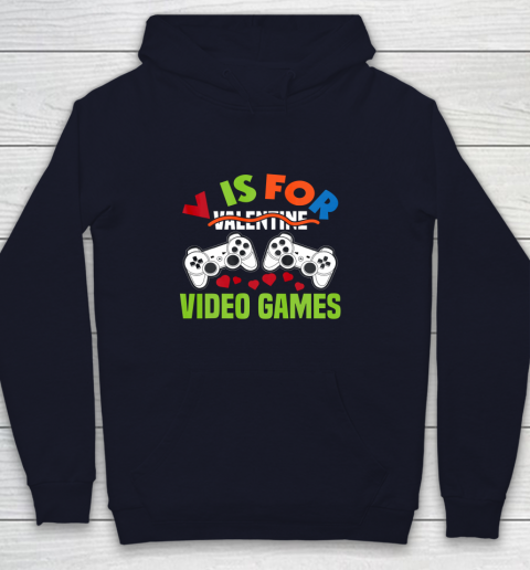 Funny Video Games Lover Valentine Day Youth Hoodie 2