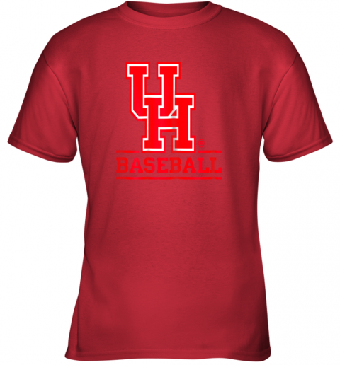 9pbz university of houston cougars baseball shirt youth t shirt 26 front red