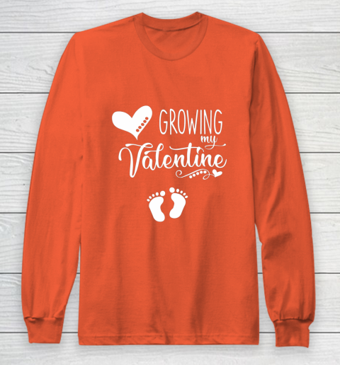 Growing my Valentine Tshirt for Wife Long Sleeve T-Shirt 3