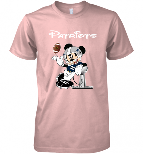 rqro mickey patriots taking the super bowl trophy football premium guys tee 5 front light pink