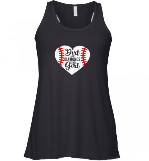 Dirt and Diamonds Kinda Girl Baseball Racerback Tank