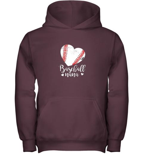 on4n funny baseball nana shirt gift for men women youth hoodie 43 front maroon