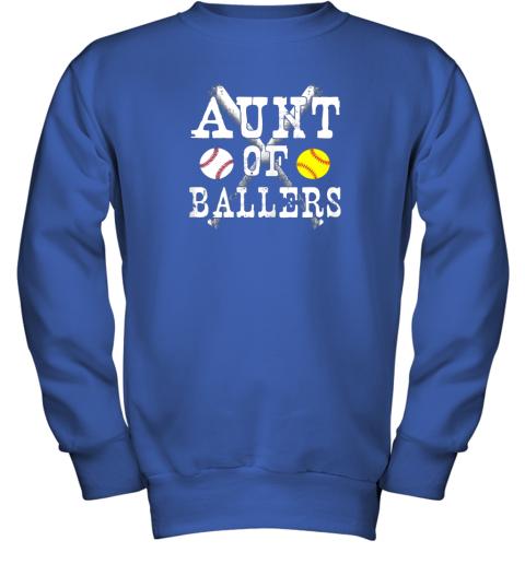 evrz vintage aunt of ballers shirt funny baseball softball love youth sweatshirt 47 front royal