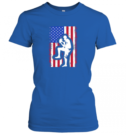 x8ce vintage usa american flag baseball player team gift ladies t shirt 20 front royal