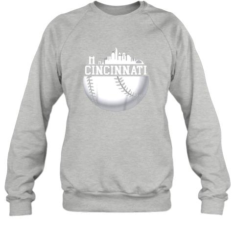 nutw vintage downtown cincinnati shirt baseball retro ohio state sweatshirt 35 front sport grey