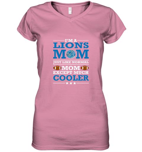 my3u i39 m a lions mom just like normal mom except cooler nfl women v neck t shirt 39 front azalea
