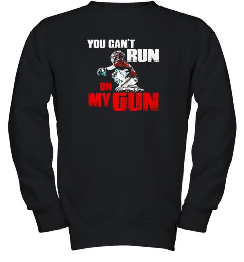 You Cant Run On My Gun Shirt Baseball Youth Sweatshirt