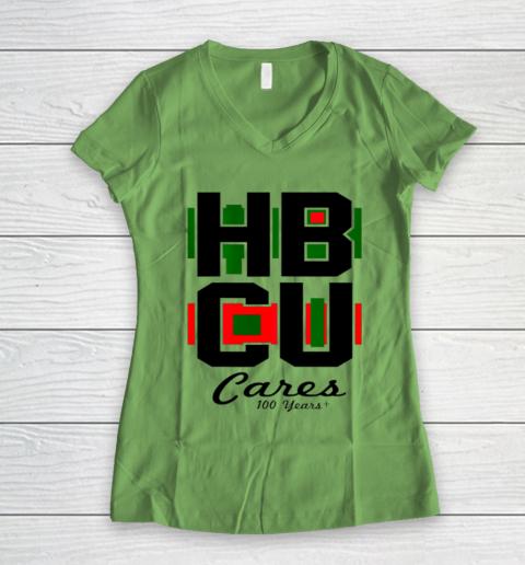 HBCU Cares College University Graduation Gift Black School Women's V-Neck T-Shirt 5