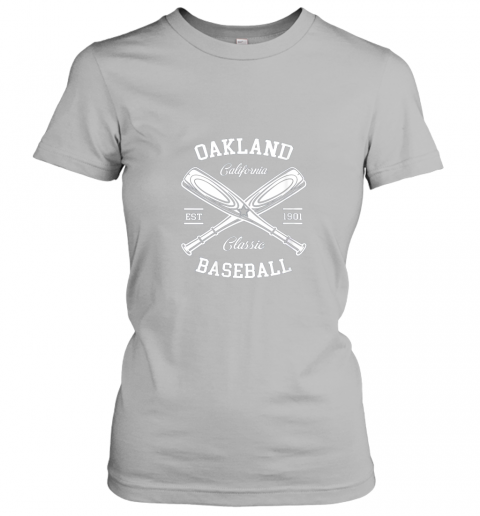 axv4 oakland baseball classic vintage california retro fans gift ladies t shirt 20 front sport grey