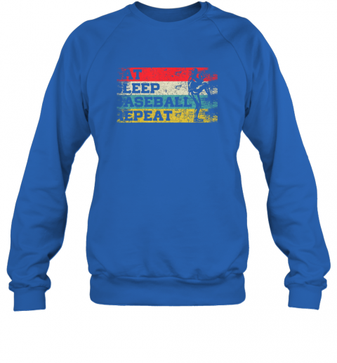 jp1l vintage retro eat sleep baseball repeat funny sport player sweatshirt 35 front royal