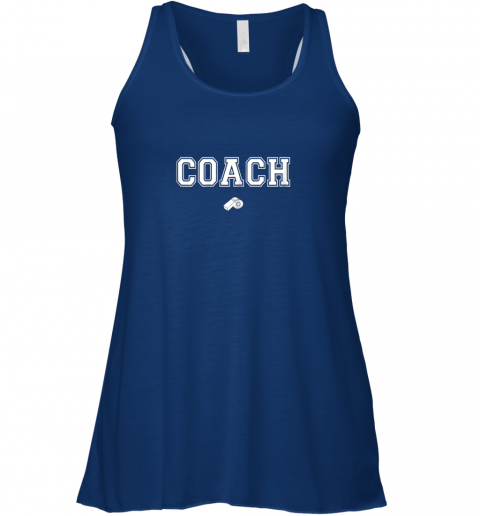 llby coach whistle shirt coaching instructor trainer jersey flowy tank 32 front true royal
