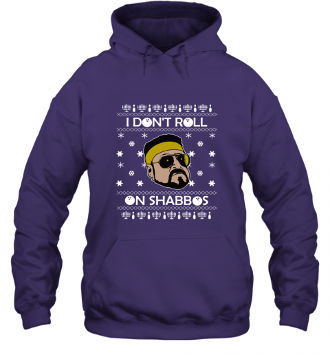 I Don'T Roll On Shabbos Lebowski Ugly Christmas Hoodie