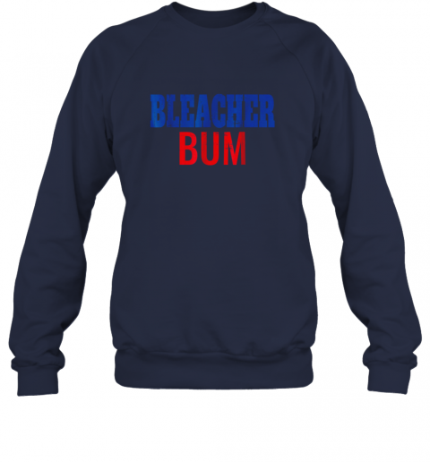 shds bleacher bum original chicago baseball distressed sweatshirt 35 front navy