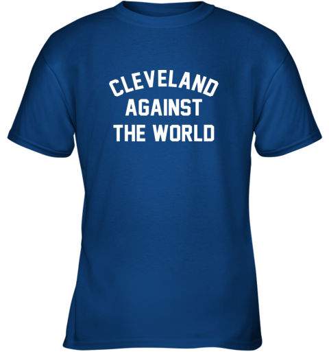 96mq cleveland against the world football baseball basketball youth t shirt 26 front royal