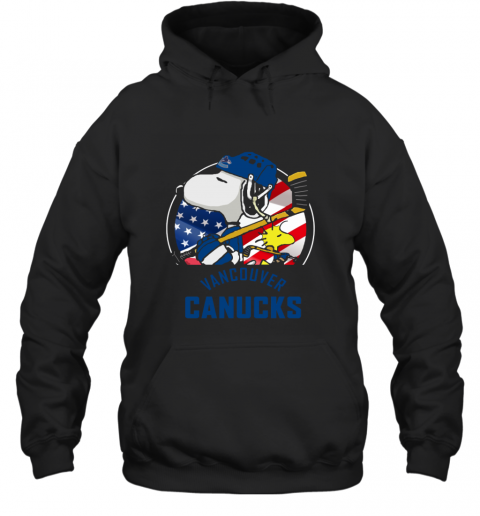 Vancouver Canucks  Snoopy And Woodstock NHL Hoodie
