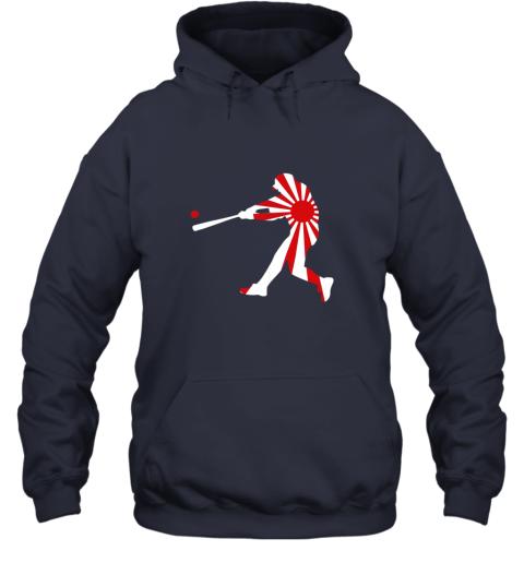 xlvo japan baseball shirt jpn batter classic nippon flag jersey hoodie 23 front navy