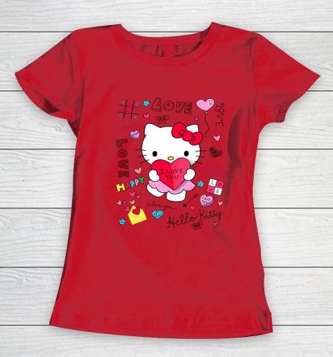 Hello Kitty Love Notes Valentine Tee Women's T-Shirt 9