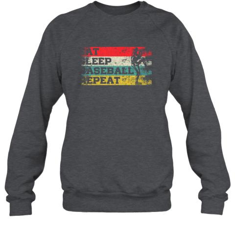 jp1l vintage retro eat sleep baseball repeat funny sport player sweatshirt 35 front dark heather