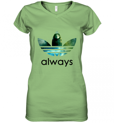 rmwk adidas severus snape always harry potter shirts women v neck t shirt 39 front lime