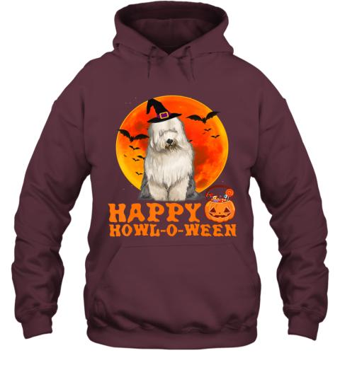 Funny Old English Sheepdog Dog Halloween Happy Howl-o-ween Hoodie