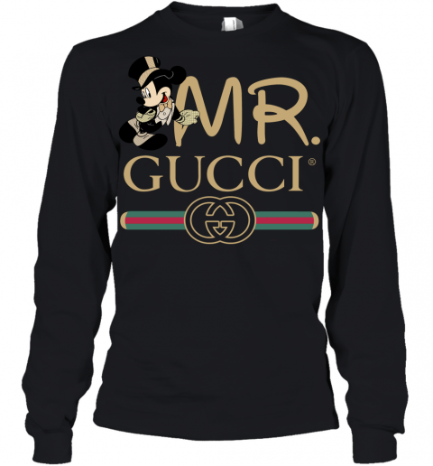 Gucci Couple Disney Mickey Valentine's Day Gift Youth Long Sleeve T-Shirt
