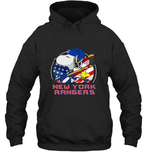 New York Ranger  Snoopy And Woodstock NHL Hoodie