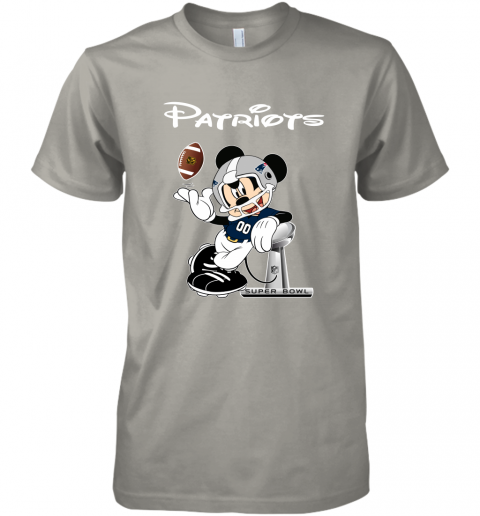rqro mickey patriots taking the super bowl trophy football premium guys tee 5 front light grey