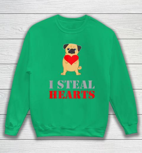 Pug Dog Valentine Shirt I Steal Hearts Sweatshirt 5