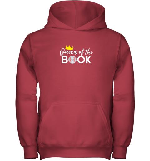 w7sn scorekeeper baseball team scorebook queen youth hoodie 43 front red