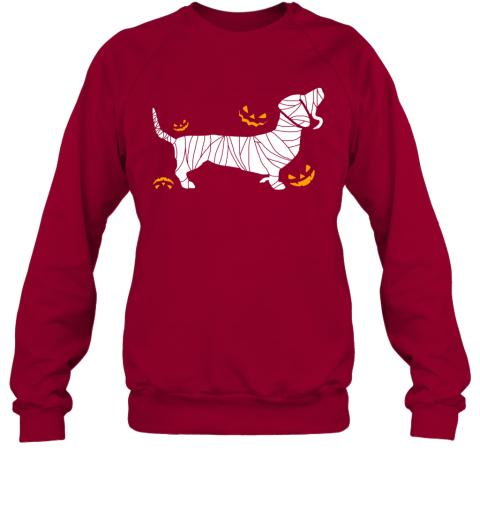 Halloween Scary Dachshund Mummy Dog Lover Sweatshirt