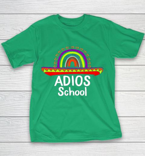 Adios School Happy Last Day Of School 2021 Teacher Mexican Youth T-Shirt 3
