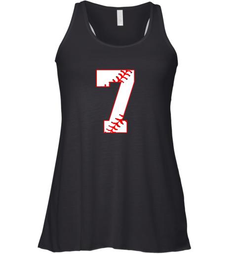 Cute Seventh Birthday Party 7th Baseball Shirt Born 2012 Racerback Tank