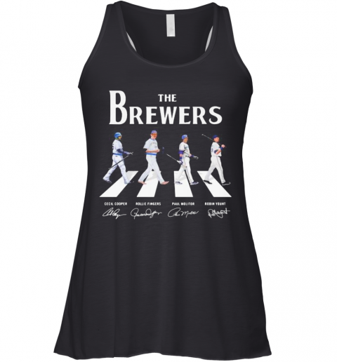 The Brewers Baseball Crossing The Line Signatures Racerback Tank