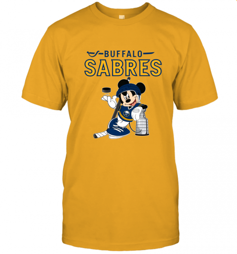 rxoi mickey buffalo sabres with the stanley cup hockey nhl jersey t shirt 60 front gold