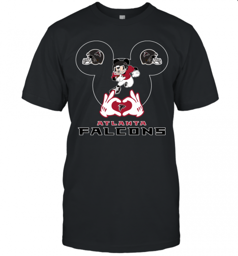 I Love The Falcons Mickey Mouse Atlanta Falcons Unisex Jersey Tee