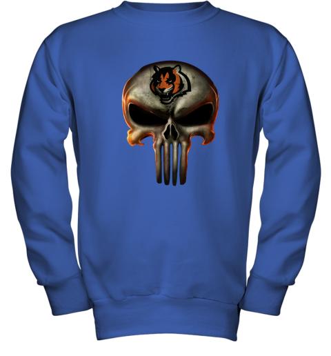 Cincinnati Bengals The Punisher Mashup Football Youth Sweatshirt