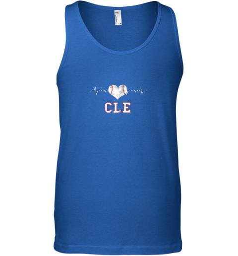 qk4g cleveland baseball shirt cleveland ohio heart beat cle unisex tank 17 front royal