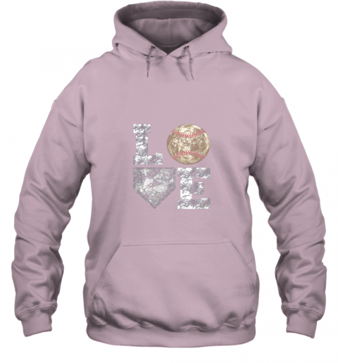 js2h baseball distressed ball cute dad mom love gift hoodie 23 front light pink