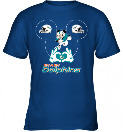 rovl i love the dolphins mickey mouse miami dolphins youth t shirt 26 front royal