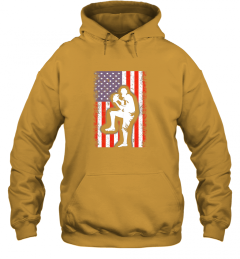 vwag vintage usa american flag baseball player team gift hoodie 23 front gold
