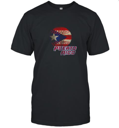 Puerto Rico Baseball Flag Shirt Boricua Pride Unisex Jersey Tee