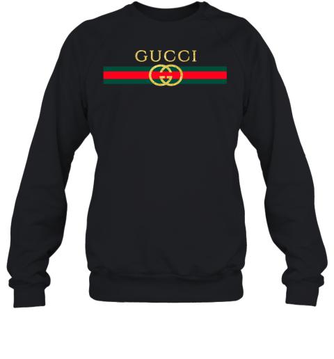 Gucci Logo Glitter Vintage Inspired Trend Adult Crewneck Sweatshirt