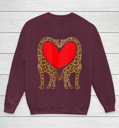 Cute Giraffe TShirt Fun Valentine Gift for Giraffe Lovers Youth Sweatshirt 4