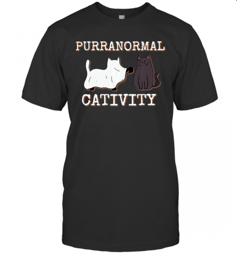 Purranormal Cativity Funny Halloween Ghost Cat girls Gifts Premium T-Shirt