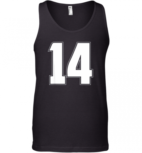 Halloween Group Costume #14 Sport Jersey Number 14 14th Bday Tank Top